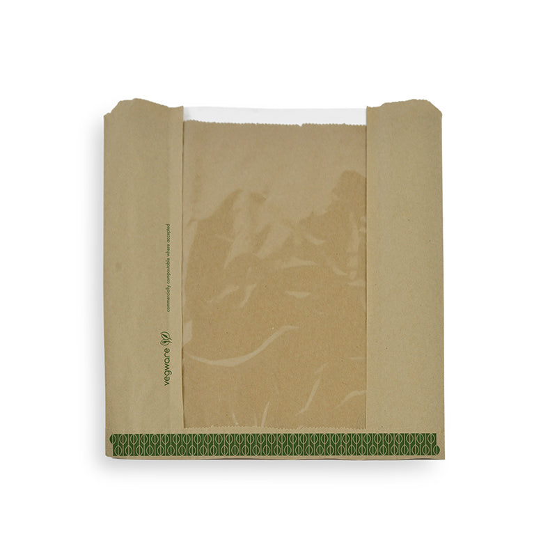 Natureflex window bag 25.4 x 25.4cm - kraft