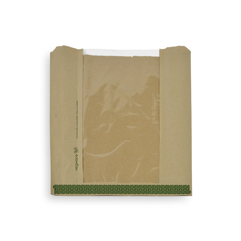 Natureflex window bag 21.5 x 21.5cm - kraft