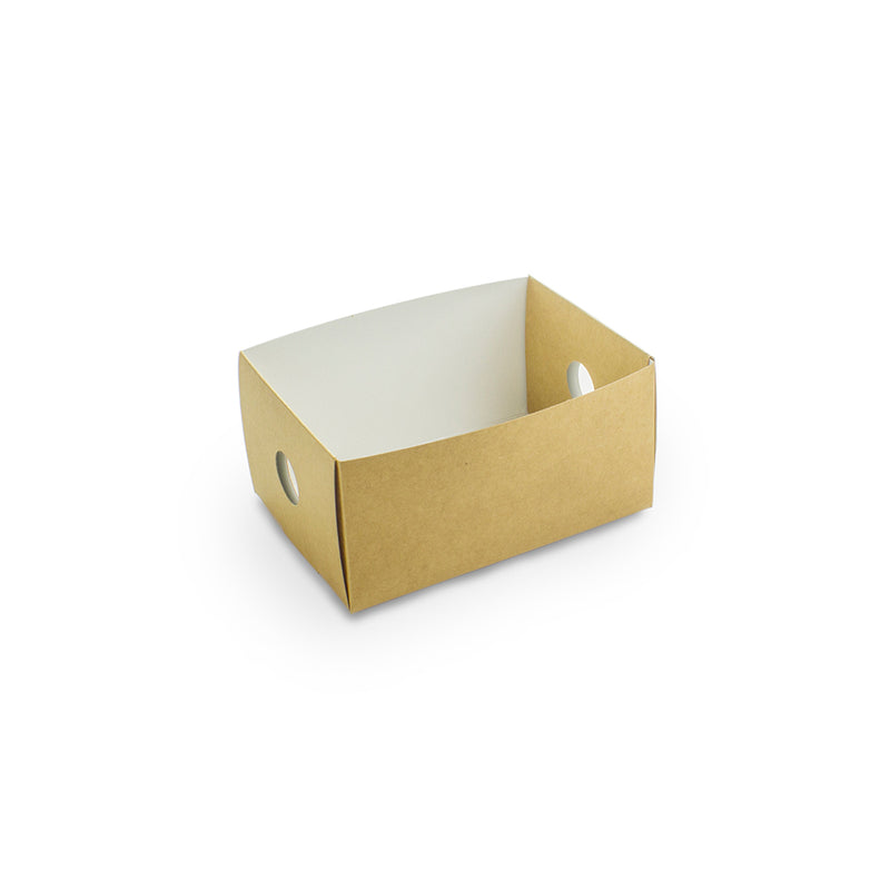 Platter box eighth insert (11 x 15 x 7.7cm) - kraft