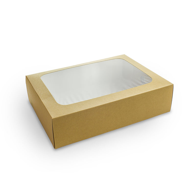 Regular platter box with sliding insert - kraft