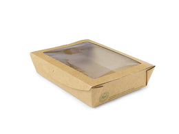 Large window box 1100ml (18 x 13.5 x 4.5cm) - kraft