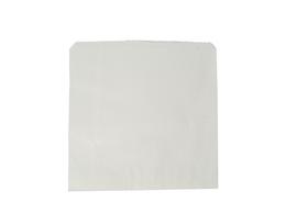 Recycled Flat Bag 21.5cm (8.5inch) Square - white
