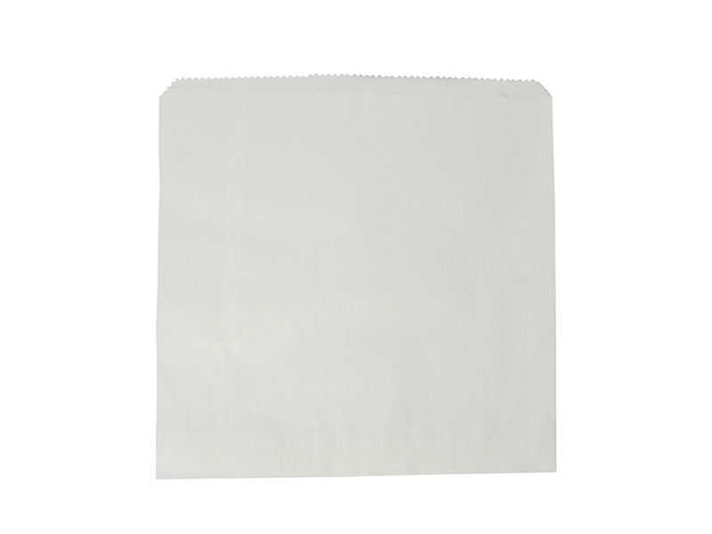 Recycled flat bag 25.4 x 25.4cm - white
