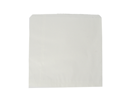 Recycled Flat Bag 25.4cm (10inch) Square - white