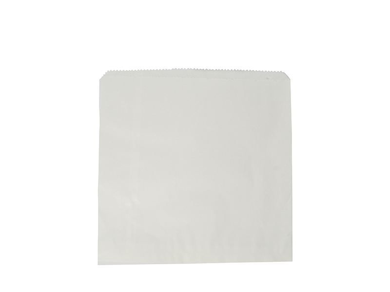 Recycled flat bag 17.7 x 17.7cm - white