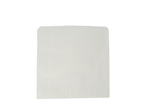 Recycled Flat Bag 17.7cm (7inch) Square - white