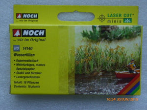 DEC 14114 DECOR HERBE AQUATIQUE WASSERLILIEN NENUPHAR NOCH NEUF ECHELLE HO 1/87 TRAIN21 ex