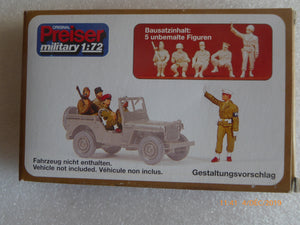 REF 72529 POLICE MILITAIRE VIENNE 1945 FIGURINES A PEINDRE MILITAIRES SOLDATS PREISER NEUF ECHELLE 1/72