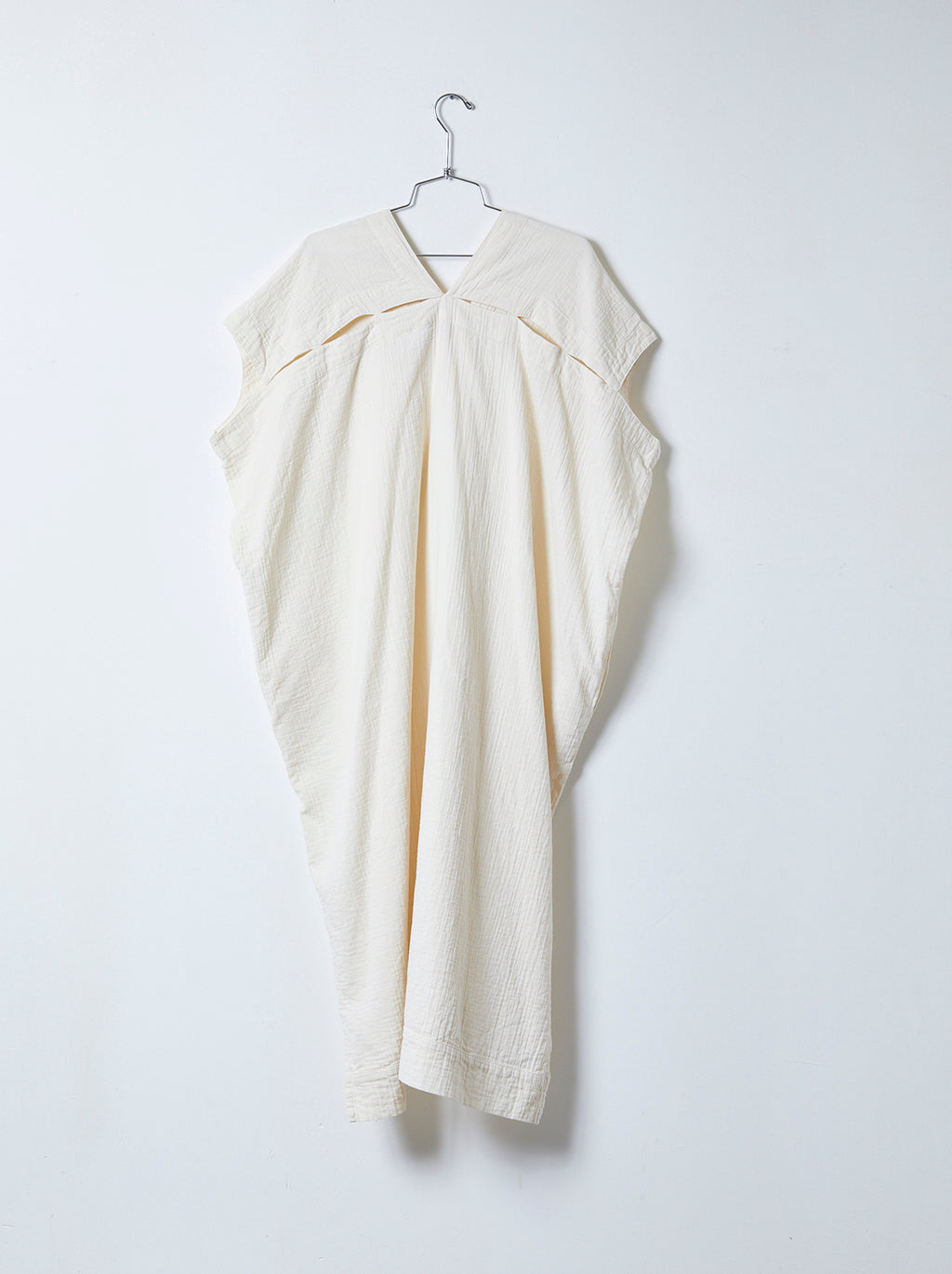 Crescent Long Dress in Crinkled Cotton, More Colors