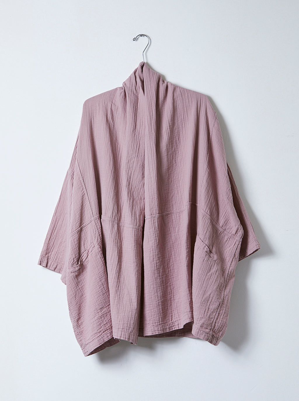 Haori Coat in Crinkled Cotton, More Colors