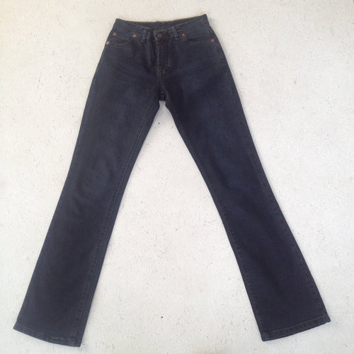 Vintage Levis 595 Colored Black Jeans/ Size W 25 L 32