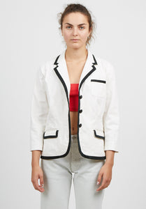Vintage Women's White Black RALPH LAUREN Office Blazer Jacket/ Size M