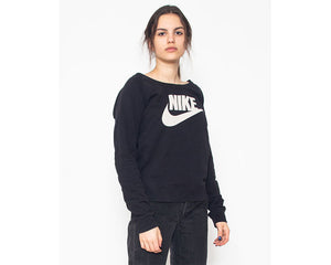 Vintage Black NIKE Long Sleeve Sweatshirt/ Size S