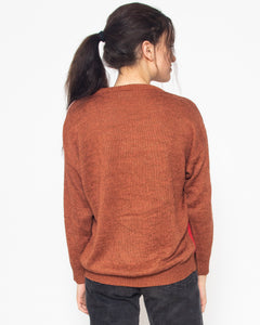Vintage Brown INCOGNITO Knit Long Sleeve Jumper/ Size M