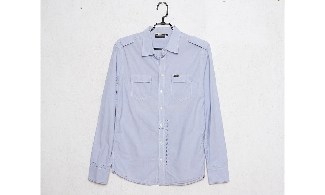 Vintage LEE Blue Shirt/ Size Medium