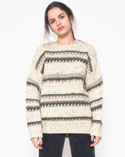 Load image into Gallery viewer, Vintage Beige TRAVELER'S Knit Warm Long Sleeve Jumper/ Size M