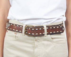 Vintage Brown USA Leather Belt