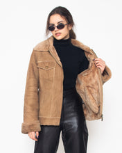Load image into Gallery viewer, Vintage Women's Brown Sherpa Zip Closure Jacket/ Size XL
