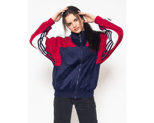 Vintage Blue Red ADIDAS Track Jacket/ Size M