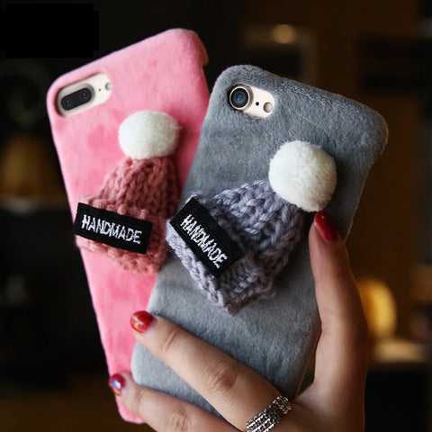 iPhone Fluffy Hat 3D case