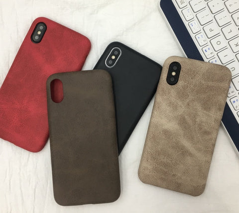 iPhone Leather Coque Case
