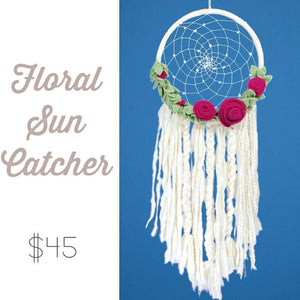 Floral Sun Dream Catcher