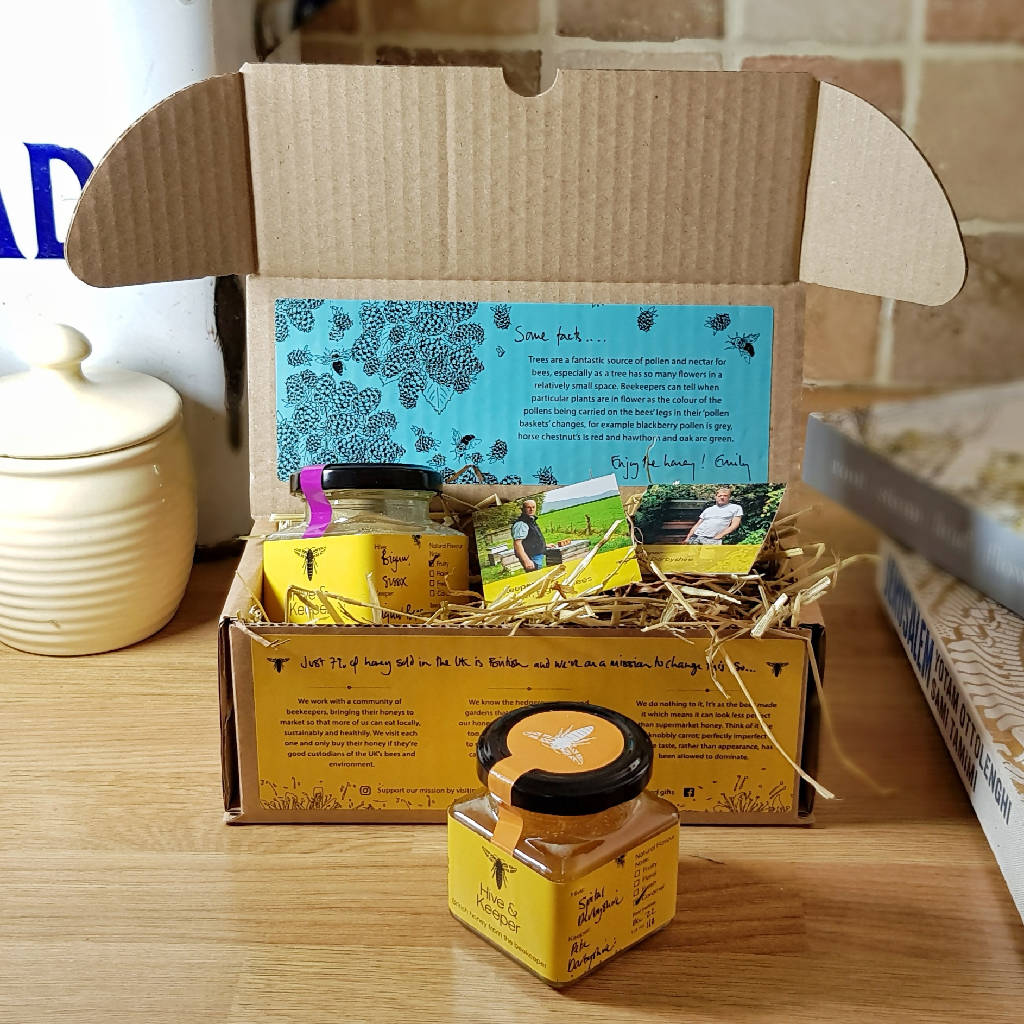 Honey from British Woodlands and Meadows Gift Set