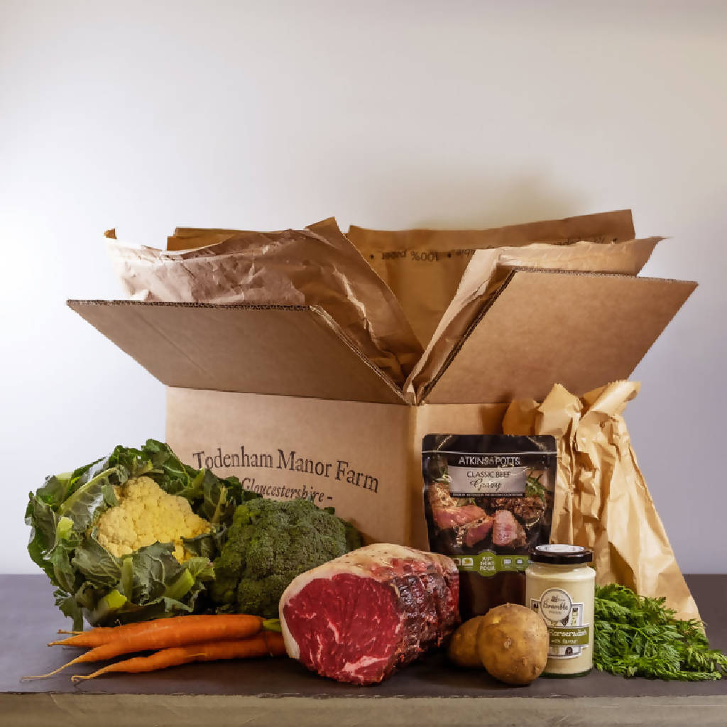 Roast Sirloin Beef Meal Box - Feeds 4 People
