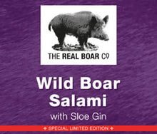 Load image into Gallery viewer, Wild Boar Sloe Gin Salami 100g