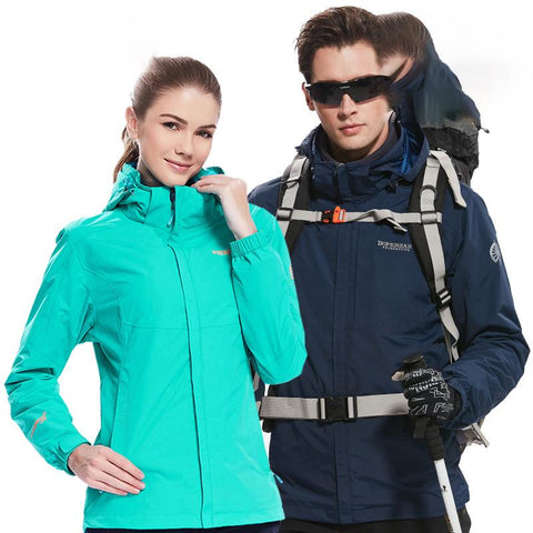 Outdoor couples fleece Jackets windproof warm three-in-one two-piece suit Jacket  8882