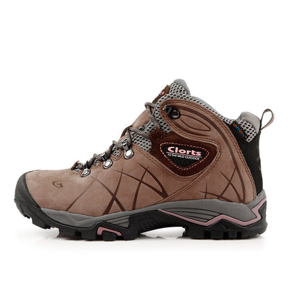 Outdoor breathable waterproof climbing high shoes 9854