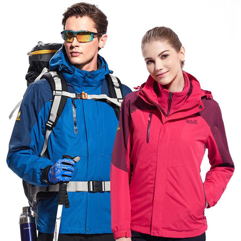 Outdoor couples fleece Jackets windproof warm three-in-one two-piece suit Jacket 1807