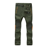 Waterproof and windproof plus velvet thick warm outdoor slim Slim pants men and women hiking pants1815