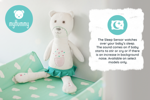 myHummy Baby Soother Teddy Bear Plush Sound Machine with 5 White Noise Sound Options