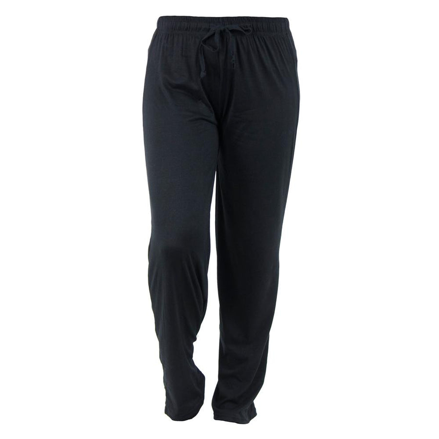 black total bliss hello mello pajama pants, twilight, solid black