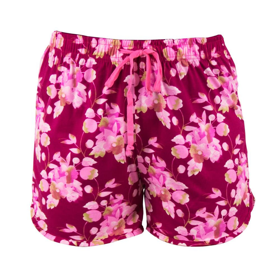 pajama shorts from hello mello total bliss, cherry blossom, pink floral