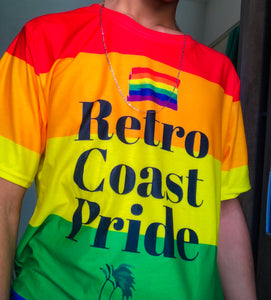 Retro Coast Pride Flag Shirt