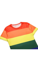 Load image into Gallery viewer, Retro Coast Pride Flag Shirt