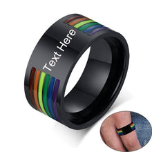 Load image into Gallery viewer, Custom Engraved Pride Ring