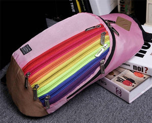 Rainbow Striped Mini Backpack