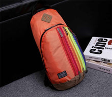 Load image into Gallery viewer, Rainbow Striped Mini Backpack