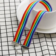 Load image into Gallery viewer, Pride Rainbow Choker Necklace