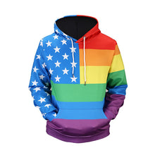 Load image into Gallery viewer, American Flag Pride Hoodie