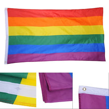 Load image into Gallery viewer, LGBT Rainbow Pride Flag (3x5ft 90x150cm)