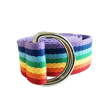 Load image into Gallery viewer, Pride Rainbow Canvas Belt