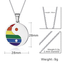 Load image into Gallery viewer, Pride Yin Yang Necklace