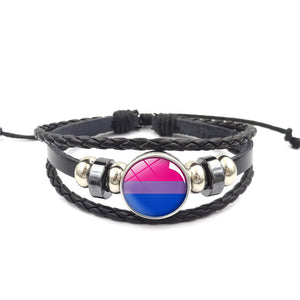 Leather Pride Bracelets