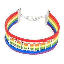 Load image into Gallery viewer, Rainbow Leather Pride Bracelet