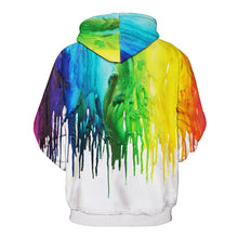 Load image into Gallery viewer, Rainbow Drip Pride Hoodie