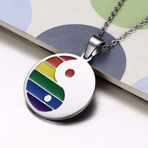 Pride Yin Yang Necklace